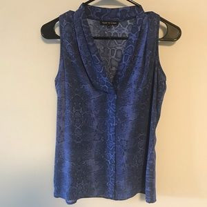Violet & Claire blue snake skin print tank. Small.